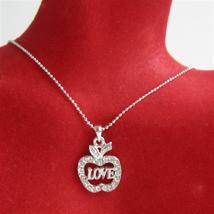 Adams Eve Apple Love Jewelry Bling Apple w/ Love Word - $13.38