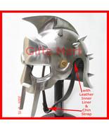 Gladiator Maximus Helmet, Roman Movie Helmets with free Leather Inner Li... - $87.00
