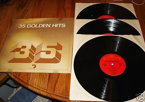 35 GOLDEN HITS ORIGINAL 3-RECORD SET 1976 CBS, INC.