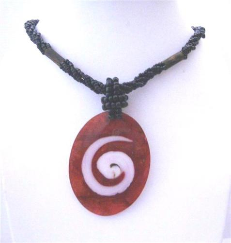 Shell Jewelry Shiva Eye Pendant Beaded Necklace
