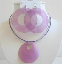 Sexy Purple Round Shell Chandelier & Pendant w/ Strings Necklace - $12.08