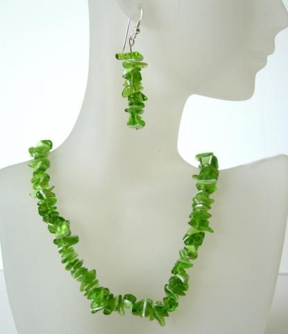 Genuine Peridot Stone Chip Handcrafted Custom Jewelry Beautiful Perido