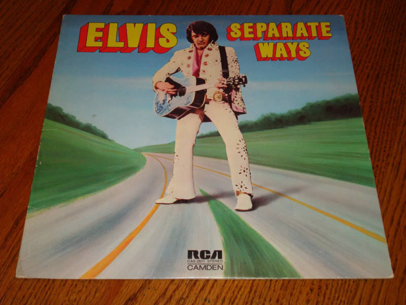 ELVIS SEPARATE WAYS Original Blue Camden Label LP