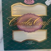 "Charles Craft® 14ct AIDA Cross Stitch Fabric ~ ANTIQUE WHITE ~ 12""x18"" - $3.95"