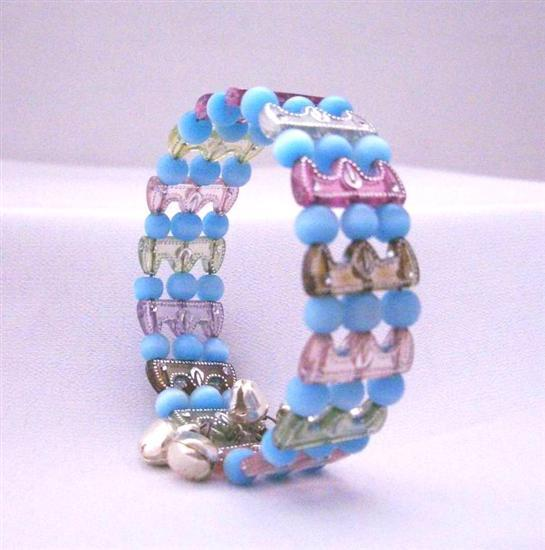 Very Cool Soothing Colored Beads! Comfortable Stretchable Bracelet