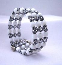 Black & White Classy Stretchable Bangle Bracelet Cuff Bracelet - $6.88