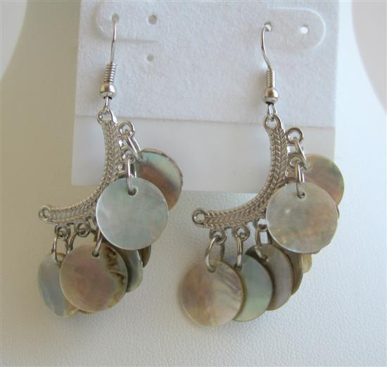 Sexy Shell Chandelier Half Moon Shell Dangling Earrings