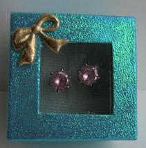 Cubic Zircon 8mm Stud Earrings w/ Gift Box Packing - $8.83