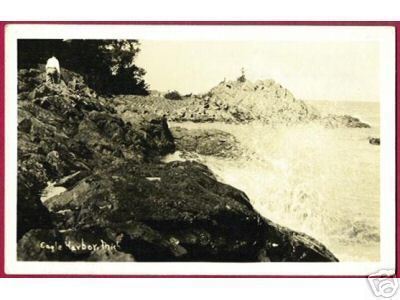 Eagle Harbor Mi Rocks Lake Dops RPPC