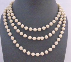 Beautiful Oat Beaded Fancy striking Oat Big Small Bead Long Necklace - $9.48