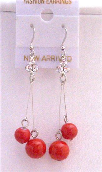 Primary image for Red Ball Dangling Dollar Earrings Shimmering Sexy Dollar Earrings