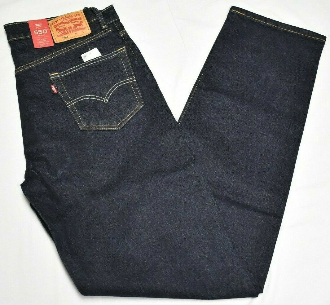 Primary image for Levi's Jeans Men 550 Relaxed Tapered 5-Pocket Stretch Denim Dark Rinse Wash P084