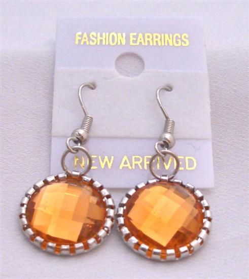 Stunning Fire Orange Earrings