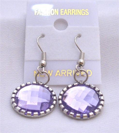 Lilac Crystals Earrings