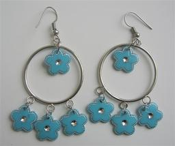 Sexy Blue Chandelier Hoop Blue Earrings Just For $1 - $4.30
