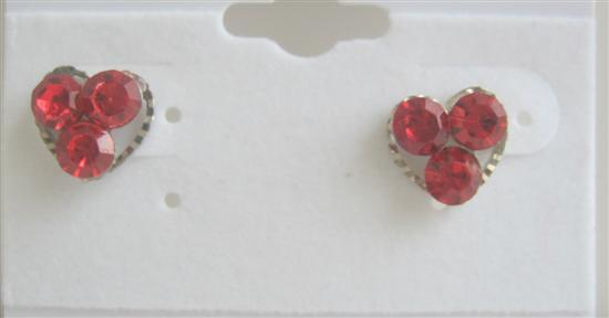 Simple Design Beautiful Red Flower Fun Wearing Earrings For All Ages