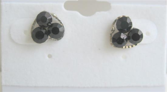 Primary image for Fun Wearing Black Flower Simple Design Beautiful Earrings For All Ages