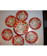"""Vintage Metal Coaster set  of Six  3 3/4"""" Diam.  - $22.99"""