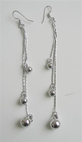 Ball Long Chandelier Earrings