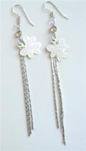 Alloy Enamel Flower Chandelier Earrings Long Tassel Drop Down Earrings - $4.30