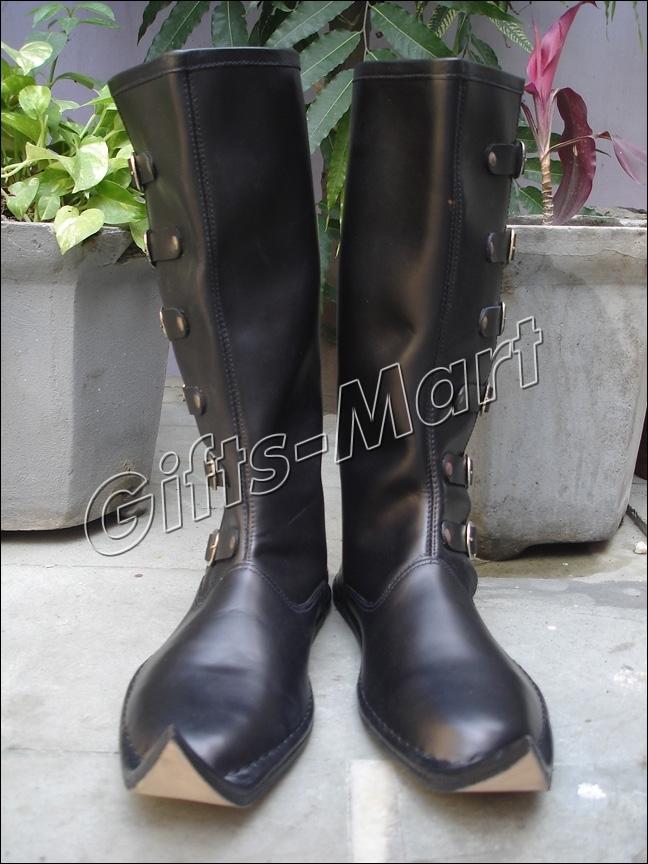LEDER STIEFEL Larp Rüstung Ritterhelm Mittelalter. Medieval Shoes, Boots, Larp*