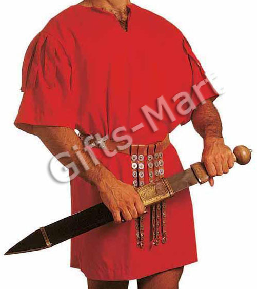 Legionaire ROMAN TUNIC, Greek SOLDIER Costume Halloween Fancy Xmas Dress Gift