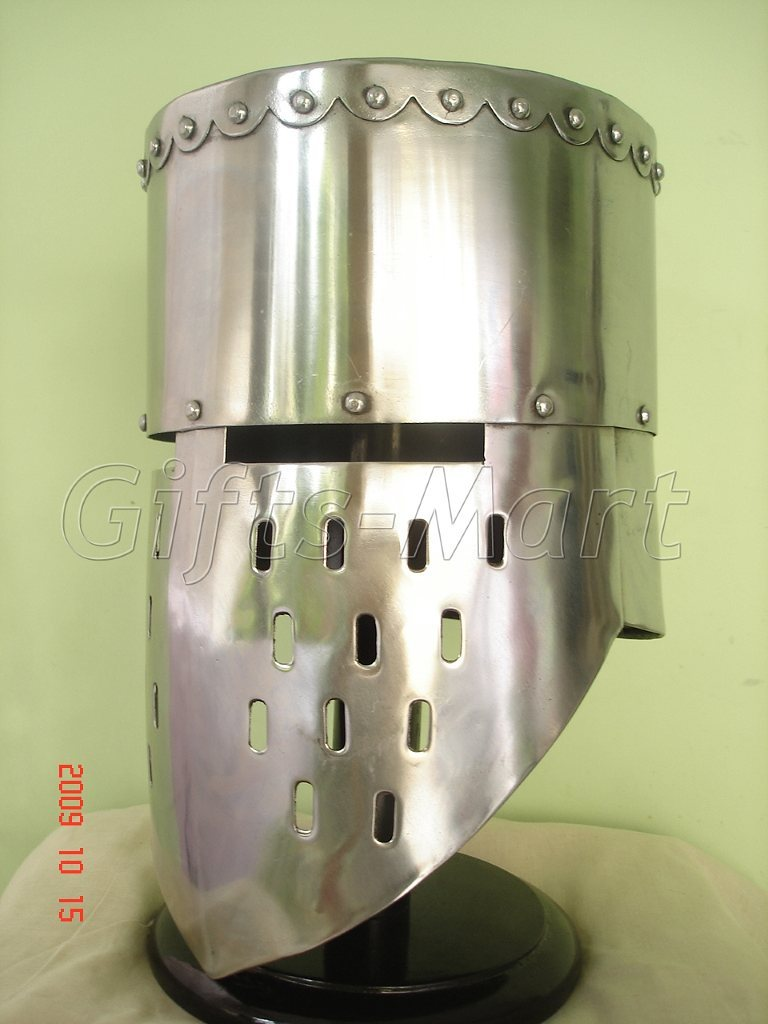 Medieval Crusader Knight Templar Helmets With Free Leather Inner Liner, Sca Larp