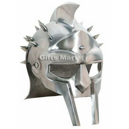 Medieval Gladiator Helmet Maximus Greek Armor Movie Stage Drama New Xmas Gift