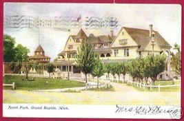 Grand Rapids MI Postcard North Park UDB 1908 BJs - $8.00