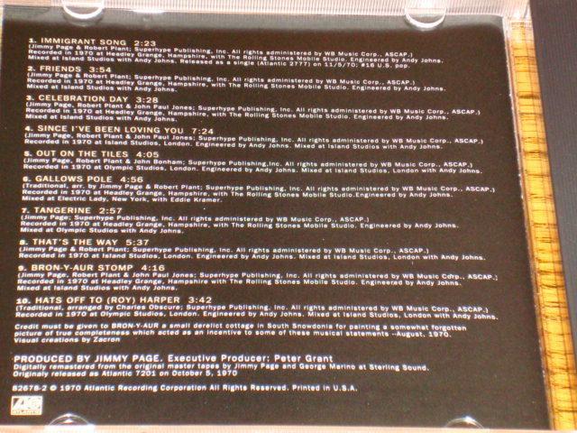 LED ZEPPELIN III CD