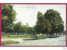 Hartfold Mi Ely Park Trees Street Vintage Mich PC - $10.00