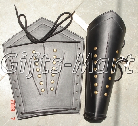 Medieval Leather Leg Guard, Gothic Fantasy COSTUME 05, Battle Ready Leg Guards