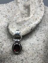 Genuine Natural Gemstone Garnet 925 Sterling Silver Vintage Stud Dangle ... - $153.45