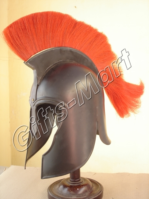 Medieval Trojan Helmet Troy Reenactment with Chin Strap Military Armour
