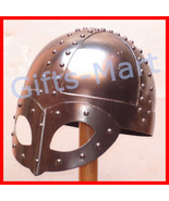 Medieval Viking Helmet with spectacles Collectible Military Costume Armo... - $36.24