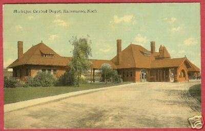 Primary image for Kalamazoo MI Postcard Michigan Central Depot RR1911 BJs