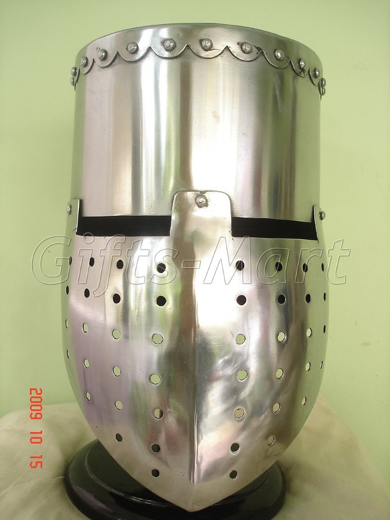 Medieval knight Templar Helmet Crusader Helmets With Free Leather Inner Liner