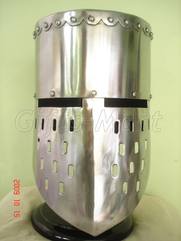 Medieval knight Templar Helmet Crusader Helmets With Free Leather Inner Liner B