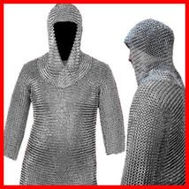Medievale Cotte de Mailles Chaîne Mail Shirt +Coiffe LOTR,  Cottes de m... - $51.24