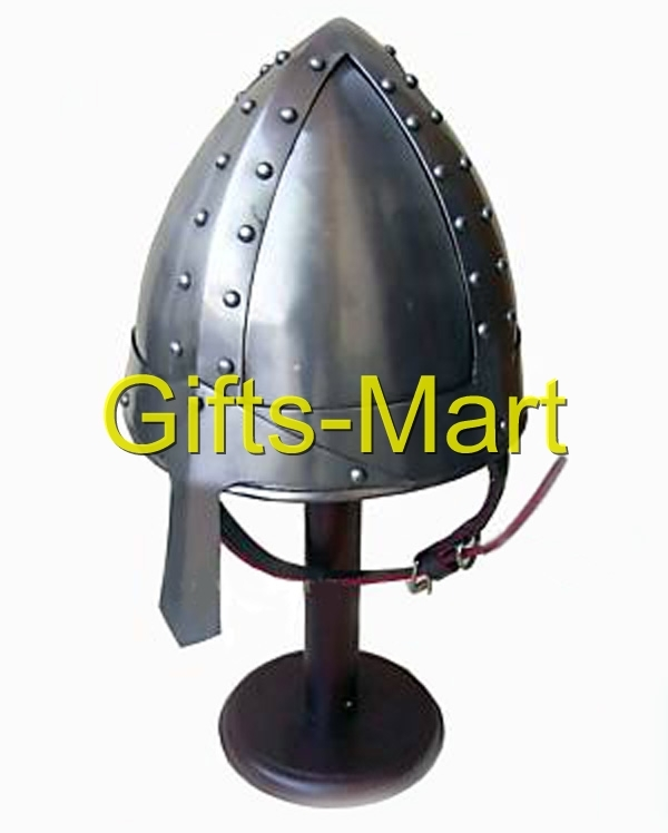 Norman Helmet, Medieval W/chin Strap, Fany Ancient Military armor Xmas Gift