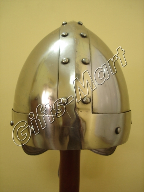 Norman Viking Helmet, Ancient helmets w/CHINStrap, Medieval Armor Collectible