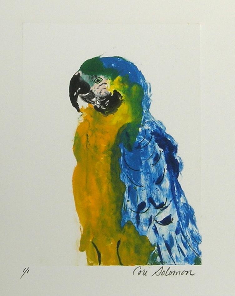 Parrot art tropical flight by cori solomon