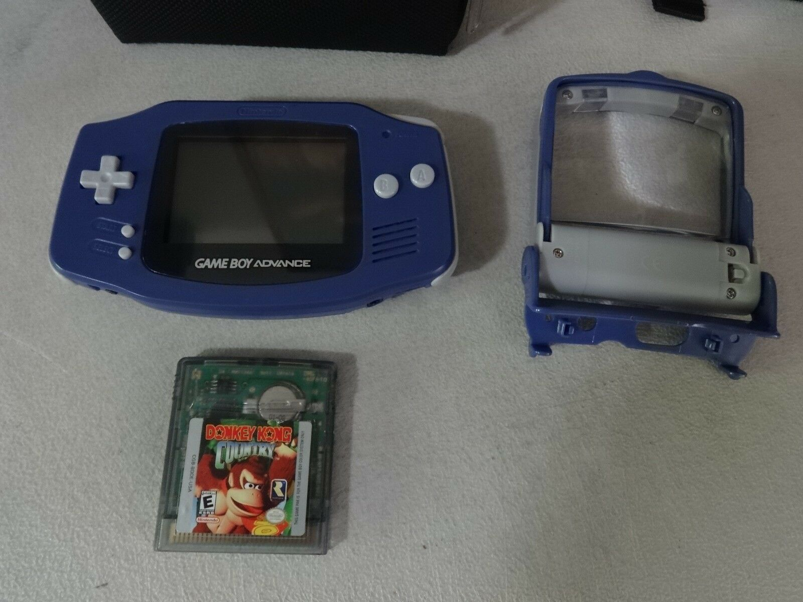 FULLY TESTED Nintendo Game Boy Advance - Original - Blue Model AGB-001 + Extras