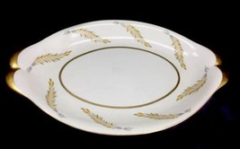 """Meito Norleans Courtley Large Serving Platter 18"""" X 11.5"""" Gold Trim Whea... - $39.55"""