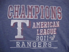 Baseball MLB American League Champions 2011 Soft Stretch 47 Brand T Shirt L - $17.17