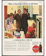 Vintage magazine ad COCA COLA from 1944 welcoming home a sailor son picture - $12.99