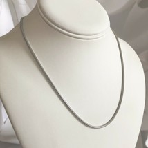 "18"" Tiffany & Co Sterling Silver Men's Unisex Snake Chain Necklace - $199.00"