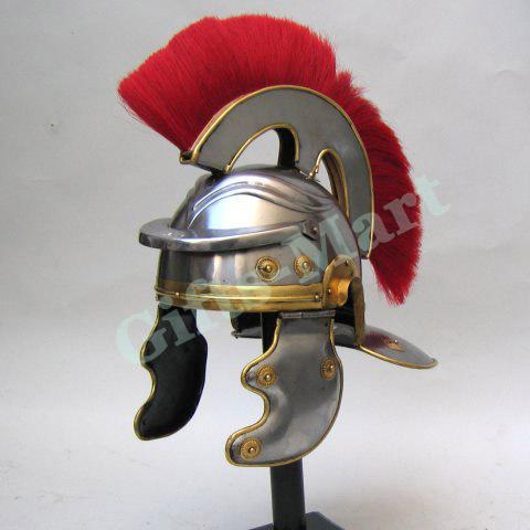 Roman Centurion Helmet, +Free LINER, Fancy Gallic Medieval Larp Military Armor