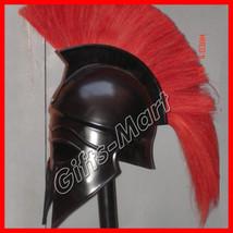 Roman Spartan Greek Corinthian Helmet Armor w/ plum BR, Medieval Larp Xm... - $35.34