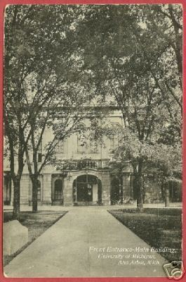 Primary image for Ann Arbor MI U of M Main Bldg Front 1908 Postcard BJs